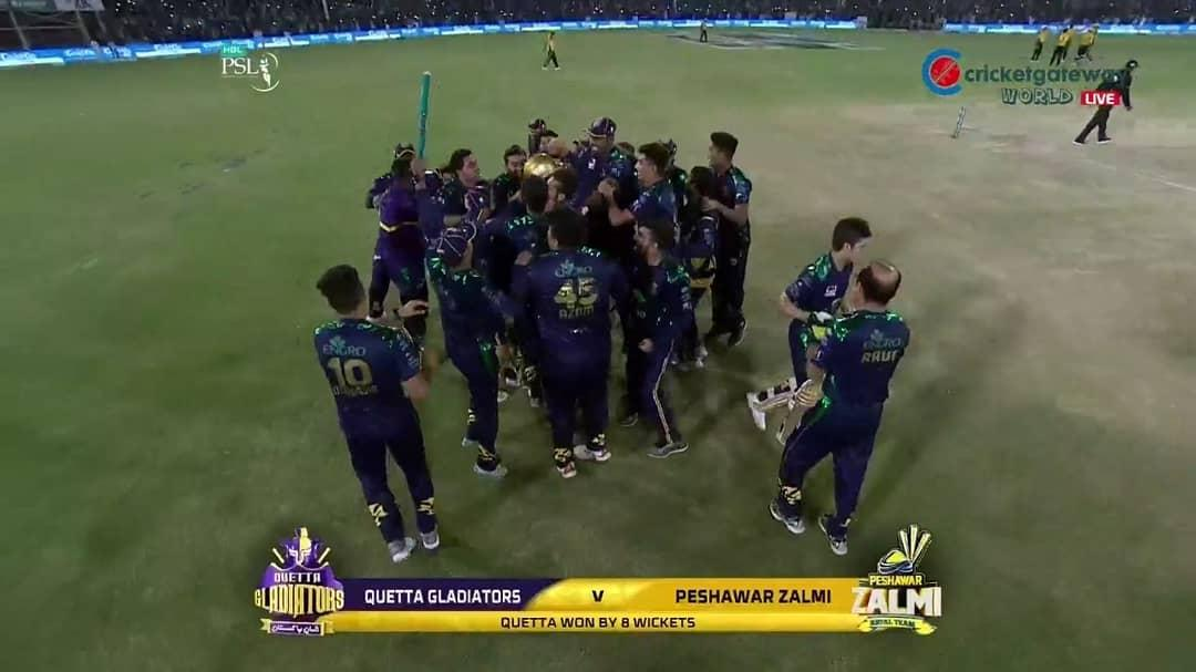 #PSL4  wow beautiful season . #QuettaGladiators r the champions of PSL 2019 . Love n Hapiness 💖💖