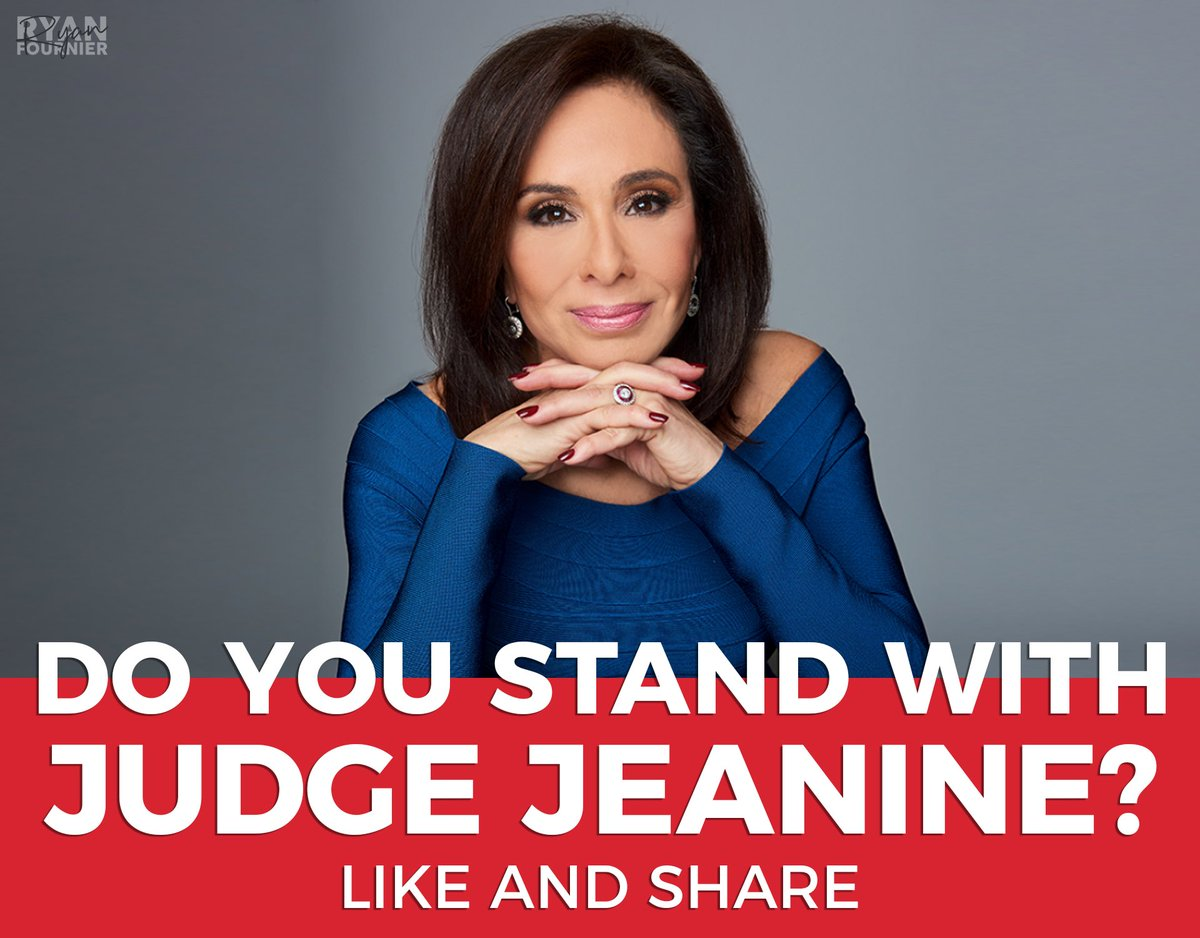 I stand with Judge Jeanine.  Who else?   RT! 🇺🇸