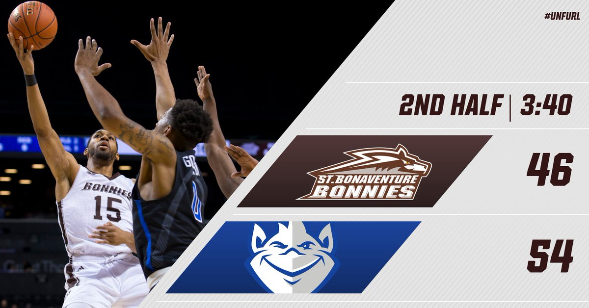 Need a huge rally in the last 3:40. #Bonnies