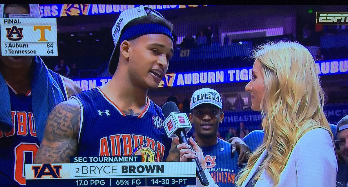 Auburn's Bryce Brown named MVP of the SEC Tournament after Tigers win it all <br>http://pic.twitter.com/k0dYN9GF4z