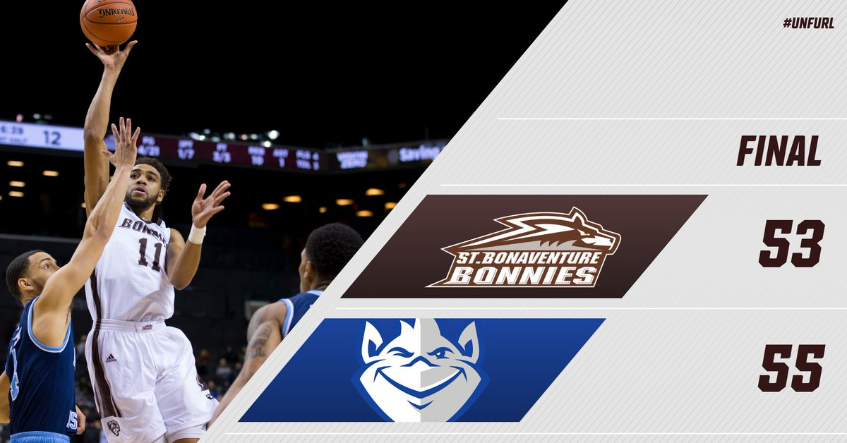 Final shot does not fall and we drop a heartbreaker by two.  Still a run to be proud of. Salute to our seniors!  #Bonnies