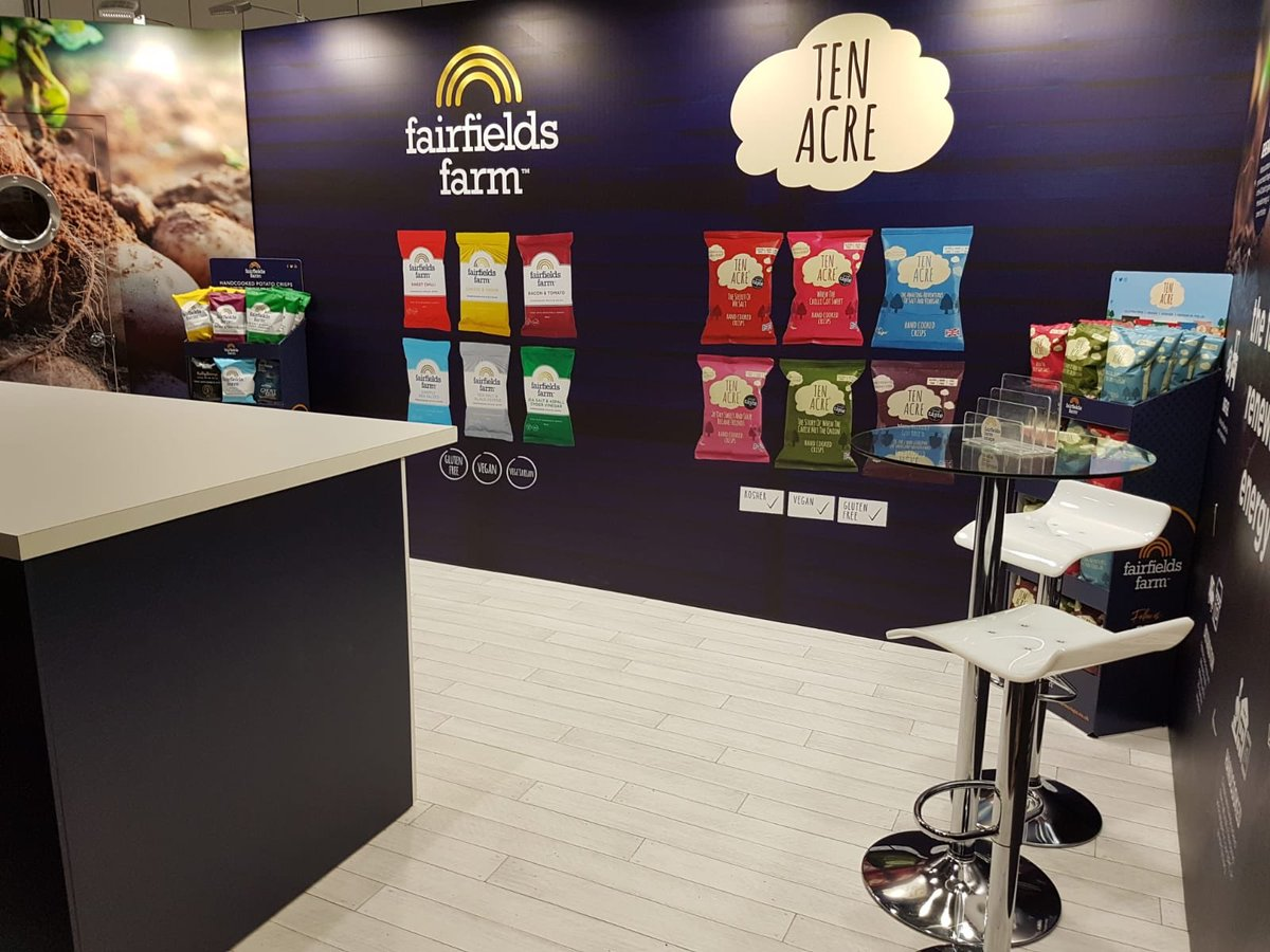 We have had a great start to @ife_event @excellondon today, if you didn't make it to the show today pop along tomorrow stand N3202 #vegan #glutenfree #kosher #handcookedcrisps #popcorn