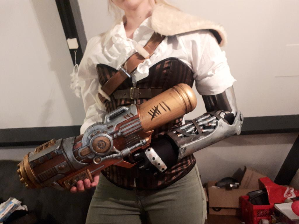Officially finished my costume for this year's Elf Fantasy Fair #EFF #steampunk
