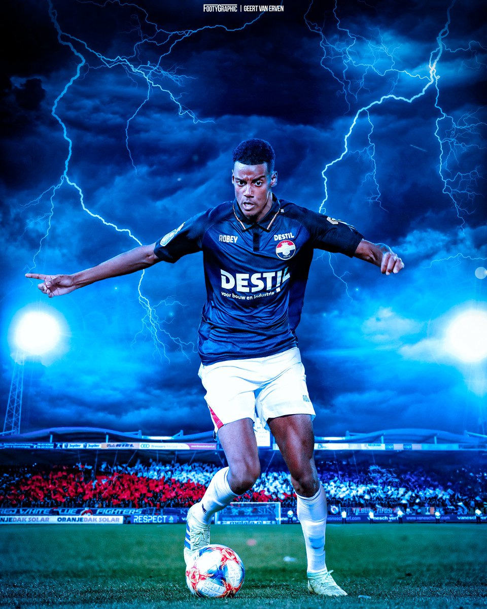 Alexander Isak is in form for Willem II ⚡  #WillemII #Isak @alex_isak @WillemII   📸 Geert van Erven