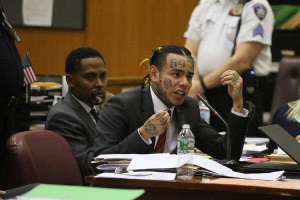 6ix9ine: I gave y'all Jordyn Woods, R Kelly, Jussie Smollett, and Aunt Becky from Full House. Can I please go?  Judge: You're looking at 29+ years.   6ix9ine: You ever see how Shane Dawson looked at his cat ?