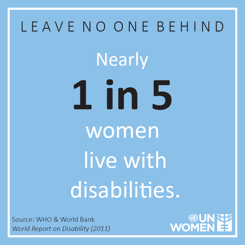 We must bring women and girls with disabilities to the centre of decision-making and their specific needs must be made visible.