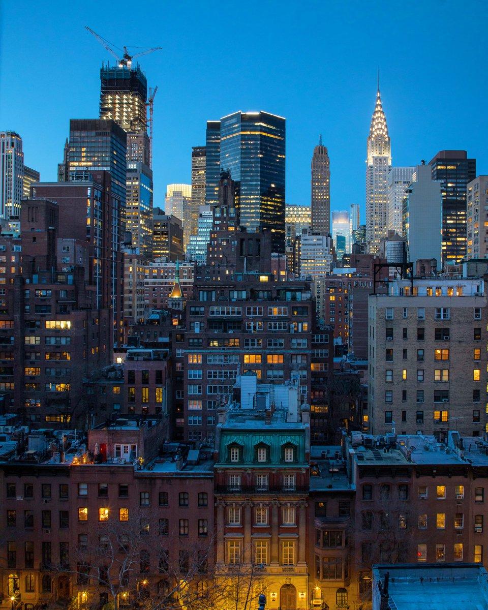 Nightfall over the neighborhood of Murray Hill #NYC
