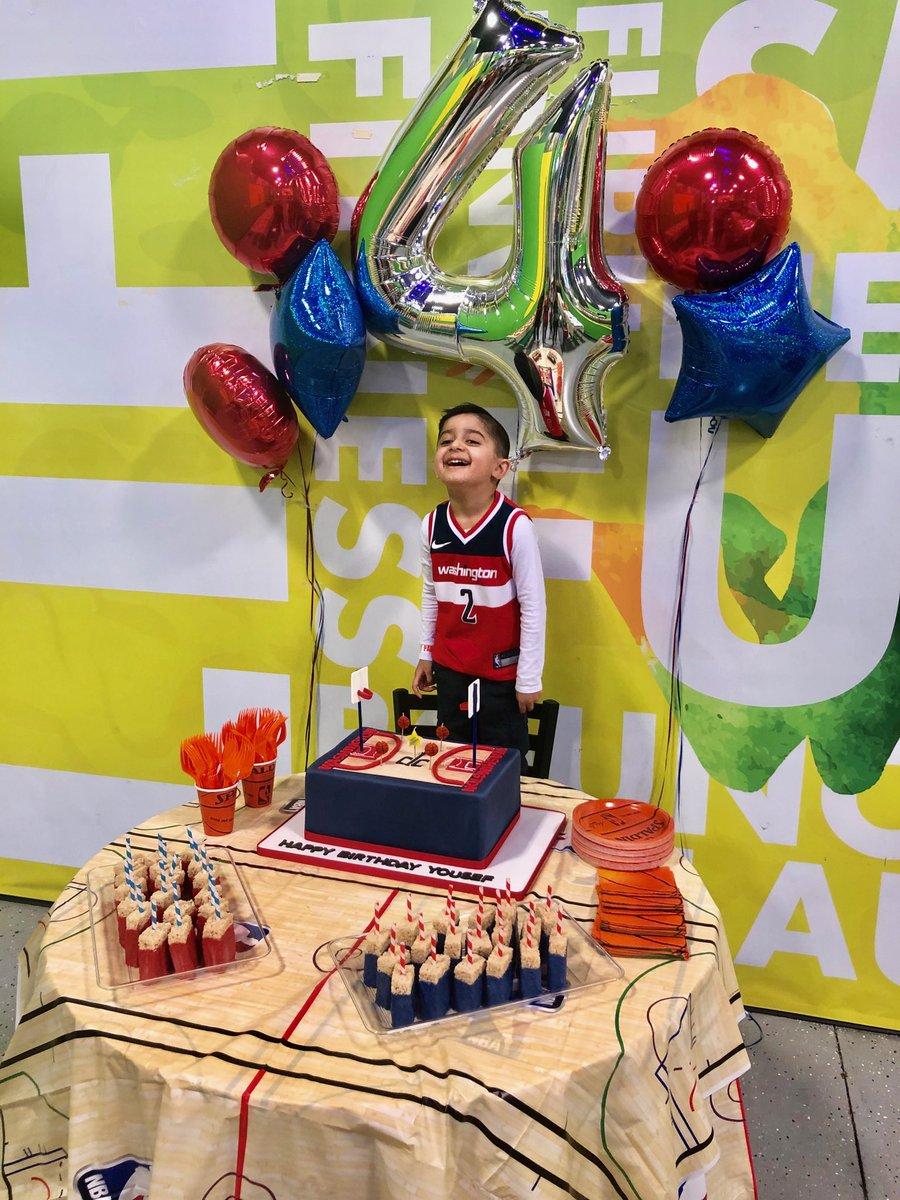 @WashWizards celebrating his birthday in style!! @JohnWall