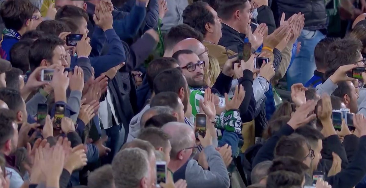 Image: Real Betis fans showing nothing but respect by applauding Messi for his jaw-dropping third goal.
