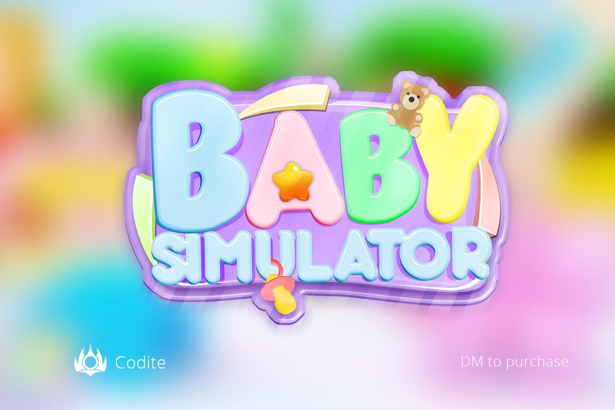 Twitter Code For Baby Simulator On Roblox Edmond On Twitter Baby Simulator Logo Commission Likes And Retweets Are Appreciated Roblox Robloxdev
