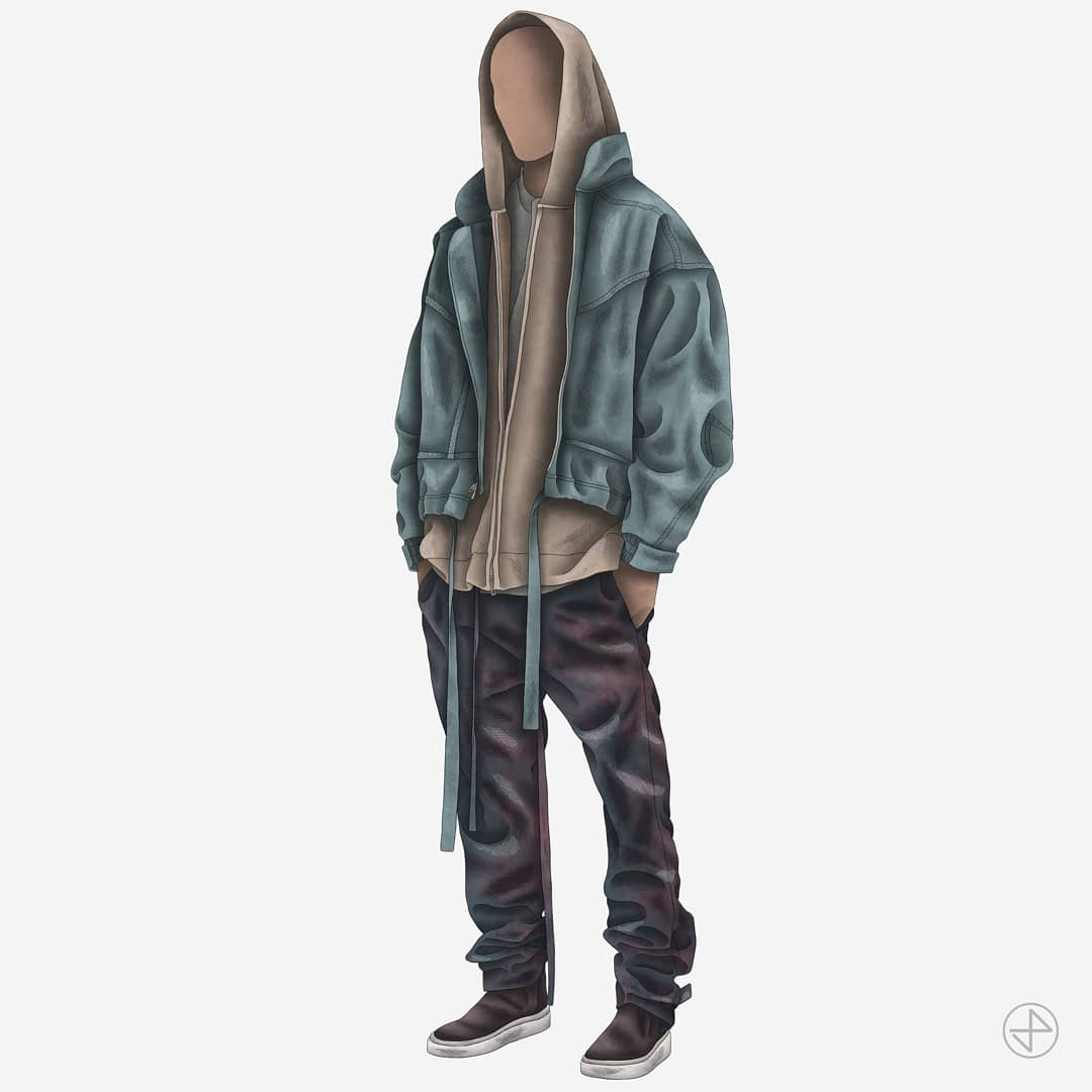 Some recent pieces featuring outfits from both @JERRYlorenzo's Sixth collection and Yeezy Season 6.