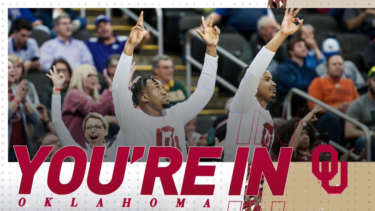 Oklahoma is DANCING! 🕺  #SelectionSunday | @OU_MBBall