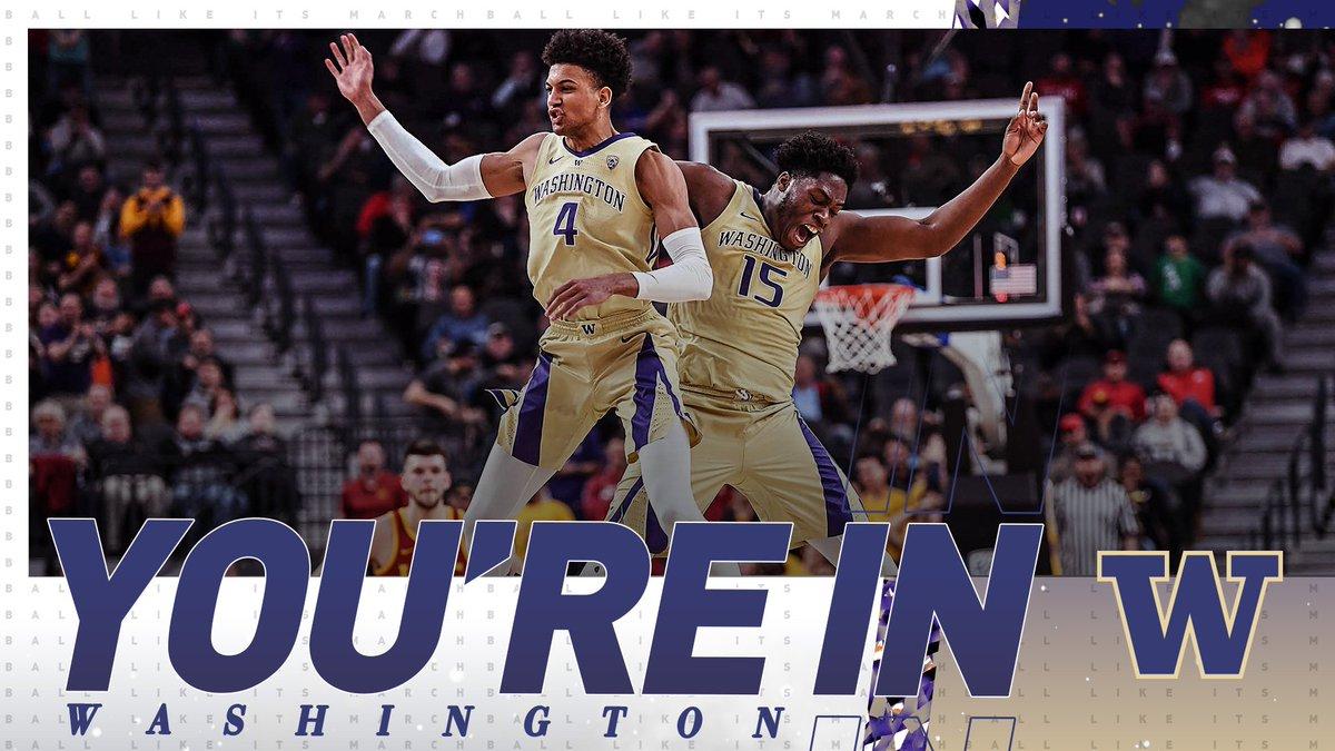Washington is DANCING! 🕺  #SelectionSunday | @UW_MBB