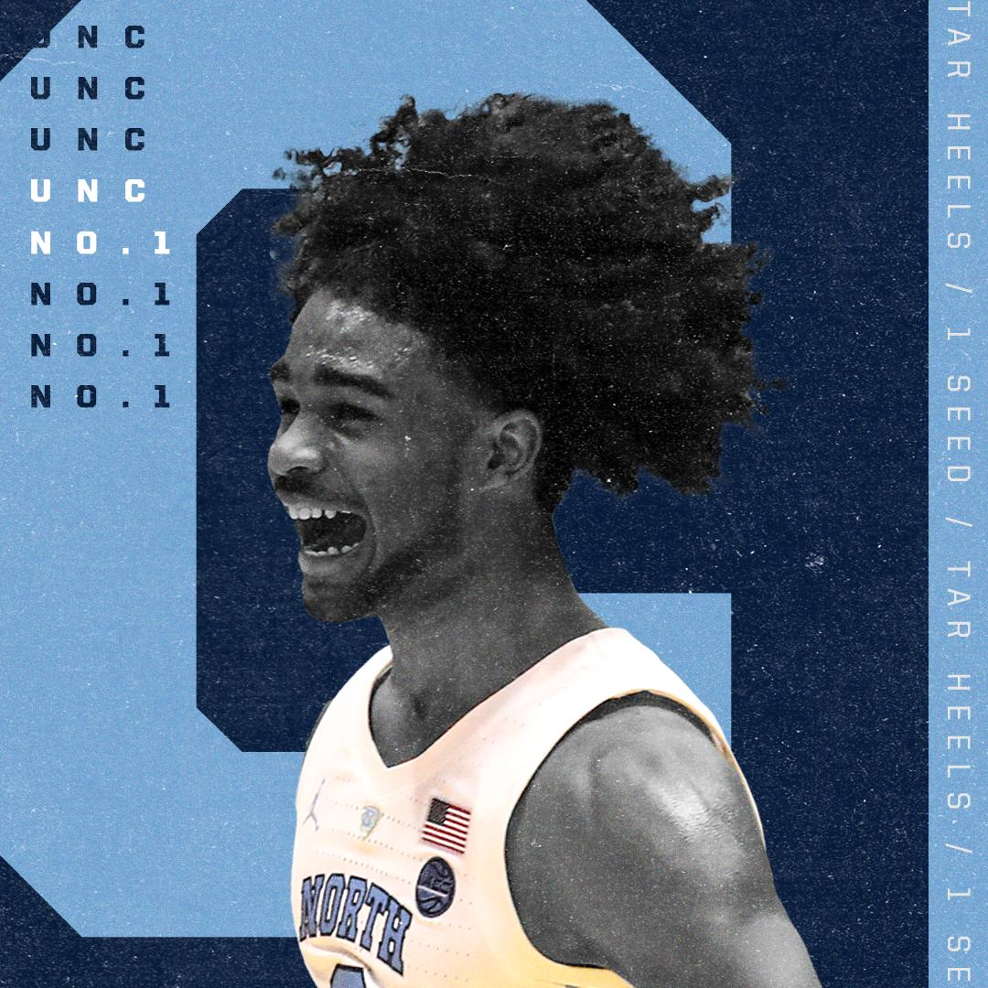Tar Heels LOCK IN the No. 1 seed in the Midwest! 😤 https://t.co/hgBJ72hSTv