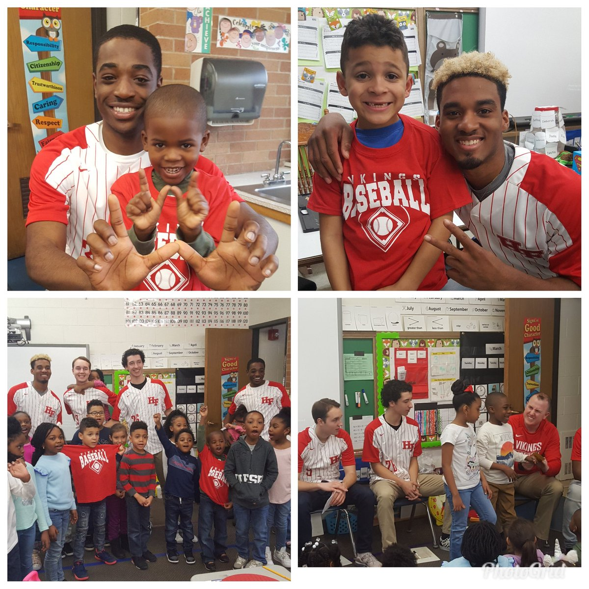 Thank you to the H-F Baseball team for visiting our 1st grade class and talking about the importance of kindness! #payitforward @HFHSAthletics @HFHS_BASEBALL #d161Learns<br>http://pic.twitter.com/zcokoQAzv8