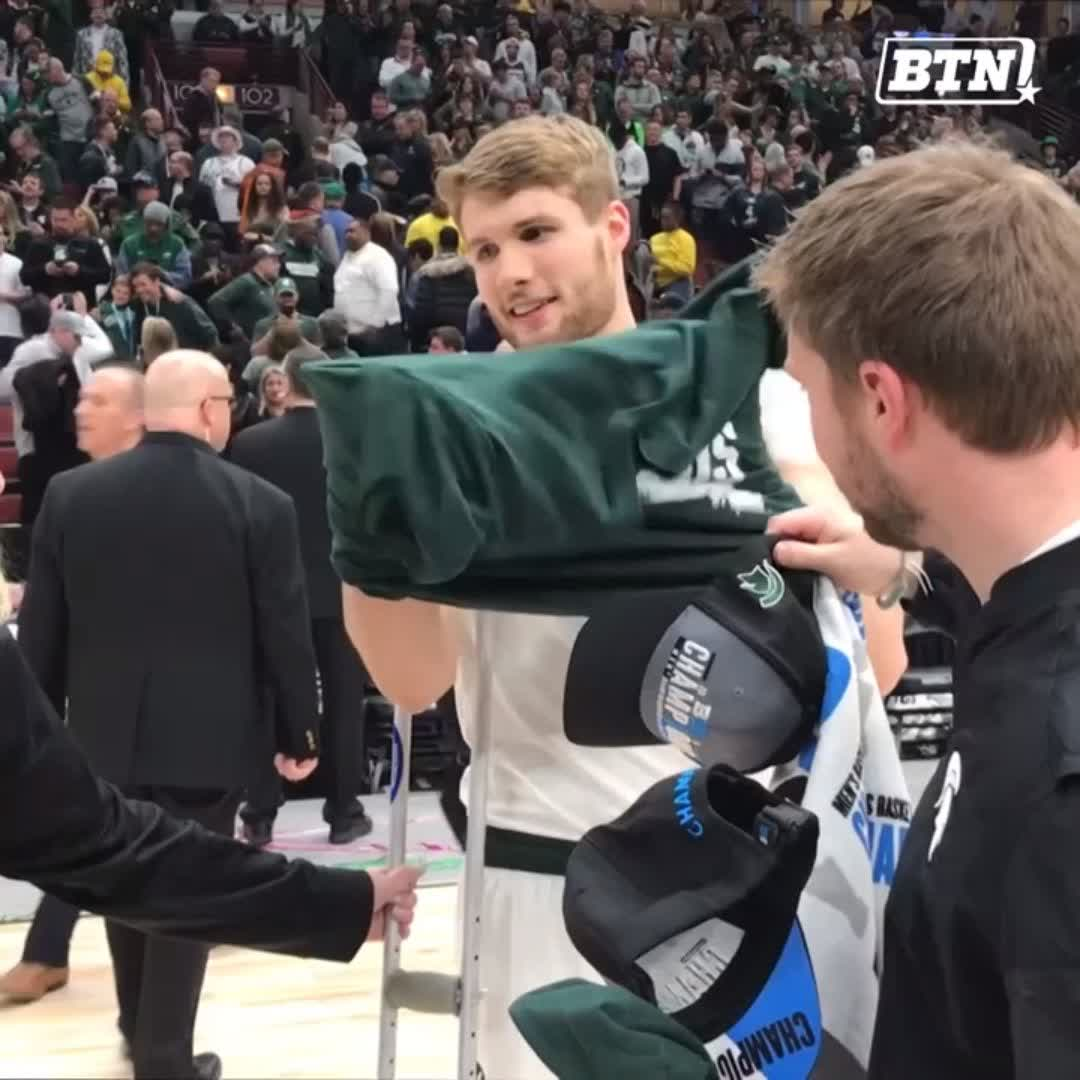 Awesome to see. 👏  You earned it, @KyleAhrens33! Thanks for giving your all to @MSU_Basketball.   #B1GTourney x #MarchOnBTN