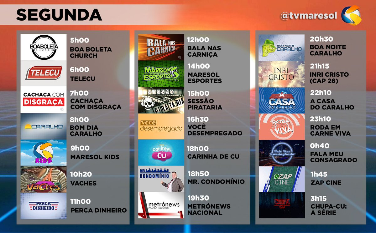 A partir de amanhã o Maresol Esportes passa a ser diário! E o apresentador @Lepe_Multiverso vai estrear um novo quadro no perfil dele! 👍 Veja a programação completa: