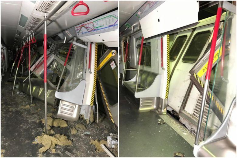 Hong Kong MTR trains collide during trial run; one driver injured https://t.co/I8uXlWzpOC https://t.co/uTvT7Sdm56