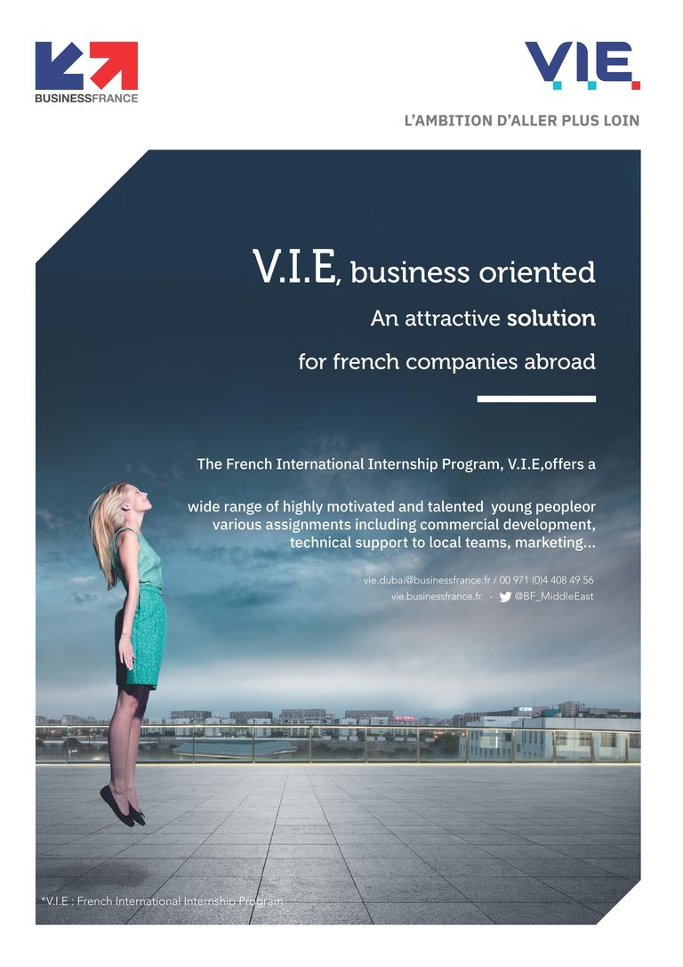 The @fbc_dubai and Northern Emirates & @BF_MiddleEast France invite you to a breakfast informative meeting on the V.I.E  program on wednesday 20th of March from 8am - 10am With the presence of Ms Raja Rabia, General Consul of France in Dubai at Business France offices #InfoBF