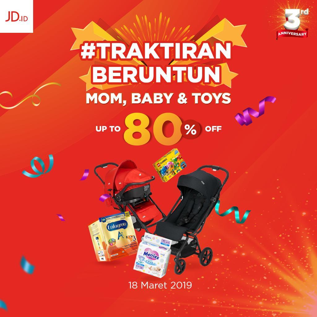 Nikmati mudahnya miliki segala kebutuhan ibu bayi mainan karena ada promo traktiranberuntun spesial moms baby toys dengan diskon hingga 80 untuk
