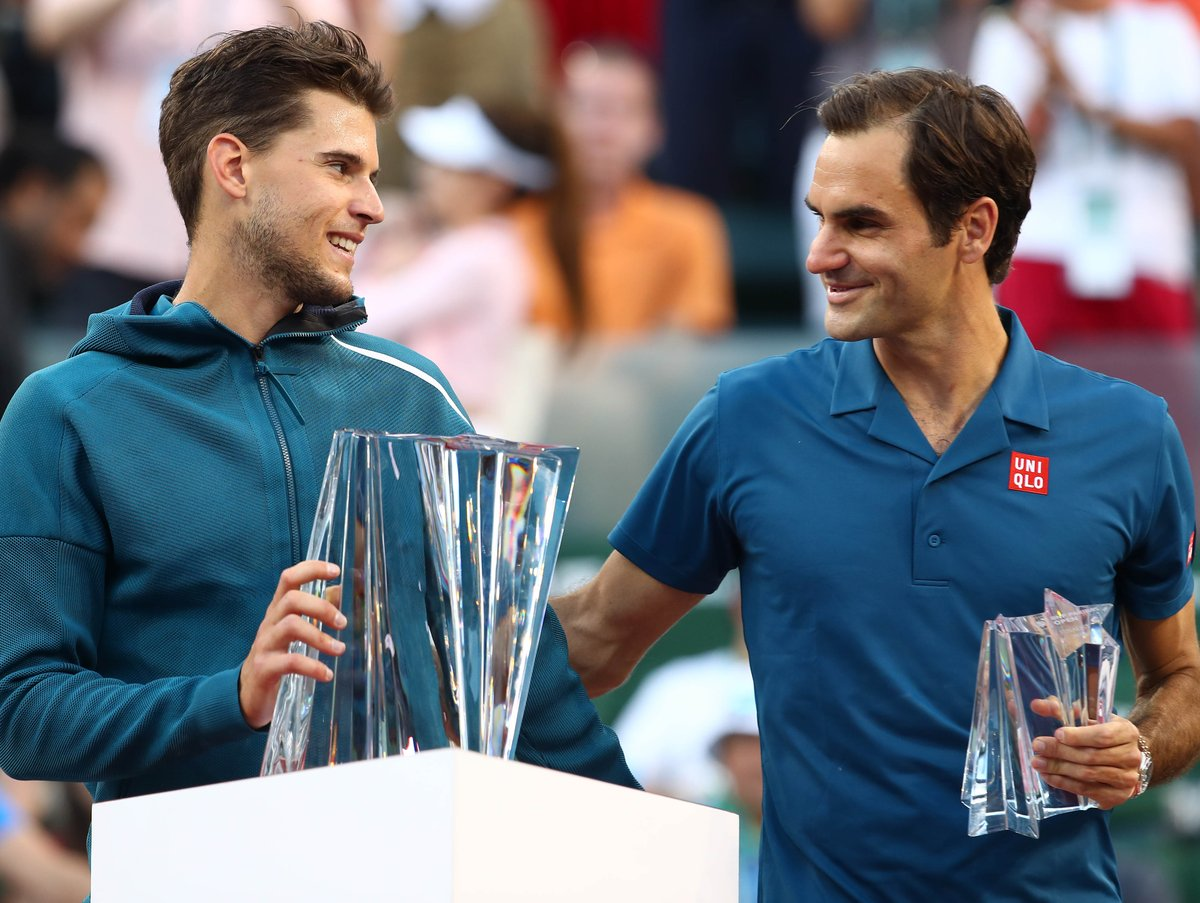 An &quot;unreal&quot; win over Roger Federer sees @ThiemDomi claim the biggest title of his career in Indian Wells. #BNPPO19    http:// bit.ly/2F7Sbmu  &nbsp;  <br>http://pic.twitter.com/une5X7KkLk