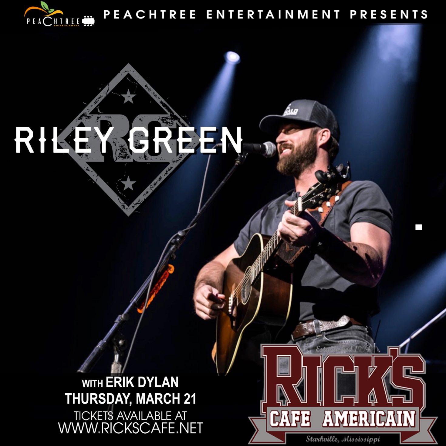Riley Green @ ricksstarkville