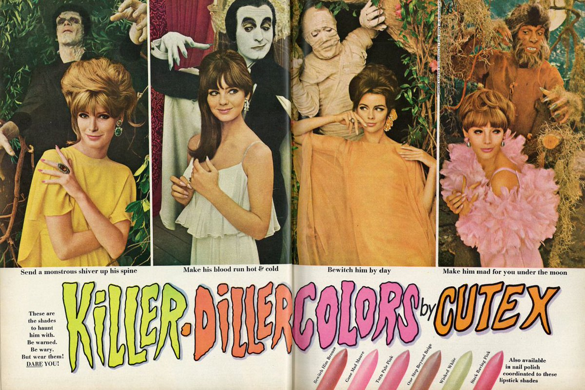 Killer-Diller Colors by Cutex (1966) advertisingpics.tumblr.com/post/183518942…