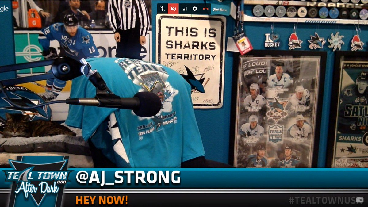 Where&#39;s @aj_strong? He must be looking for the #SJSharks  power play, which is also missing. <br>http://pic.twitter.com/6skWNeIZ8F