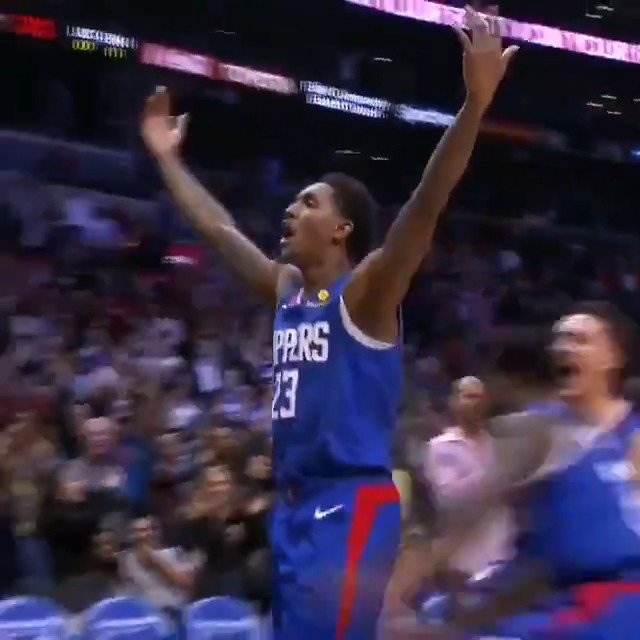 """""""BINGO!""""  Lou Williams gets to his spot and buries the #TissotBuzzerBeater to win it for the @LAClippers! #ThisIsYourTime #ClipperNation"""