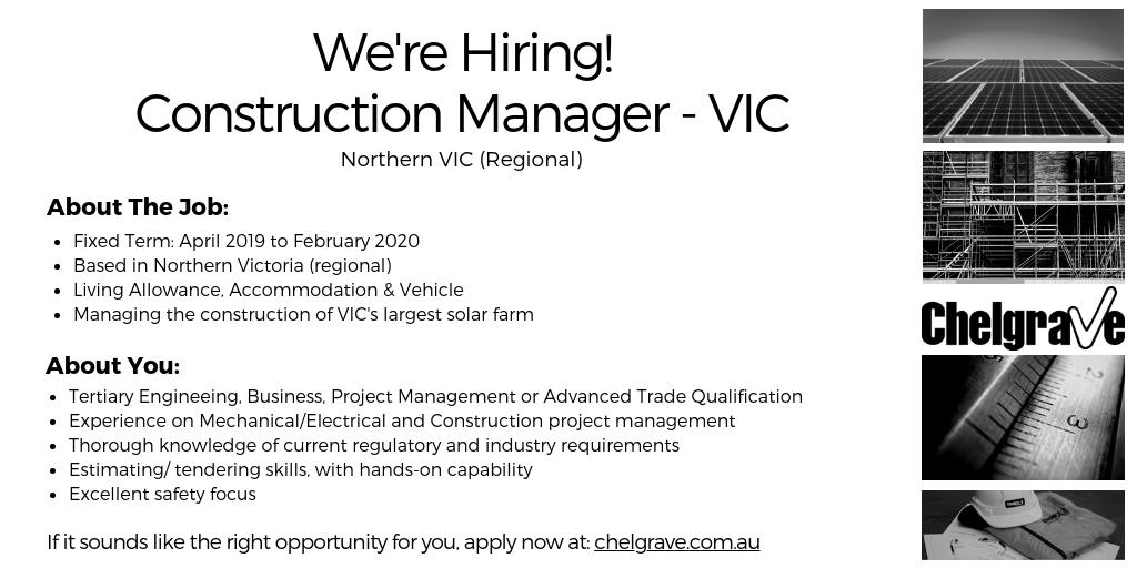 Chelgrave #JobOpening: We are looking for #Construction