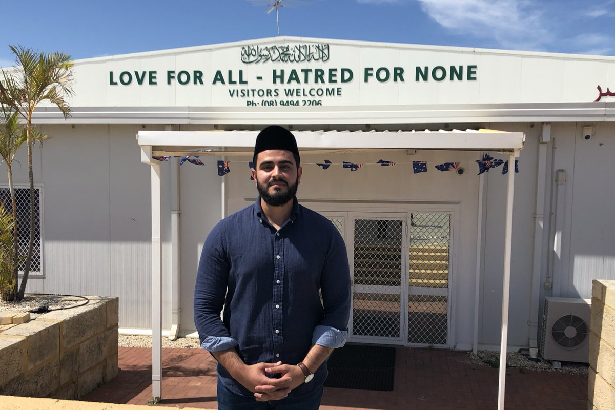 The message on the front of Nasir Mosque in Bibra Lake speaks for itself. I spoke with @ImamKamranTahir about the support from the community and standing together against violence after #ChristchurchShootings for @GilloArvos @abcperth #perthnews<br>http://pic.twitter.com/H1jdOP1wKa