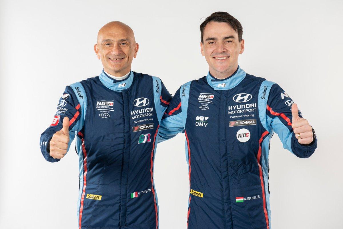 #WTCR Looking sharp! The BRC Hyundai N Squadra Corse team will field 2018 @FIA_WTCR champion Gabriele Tarquini alongside Norbert @michelisz #HMSGOfficial