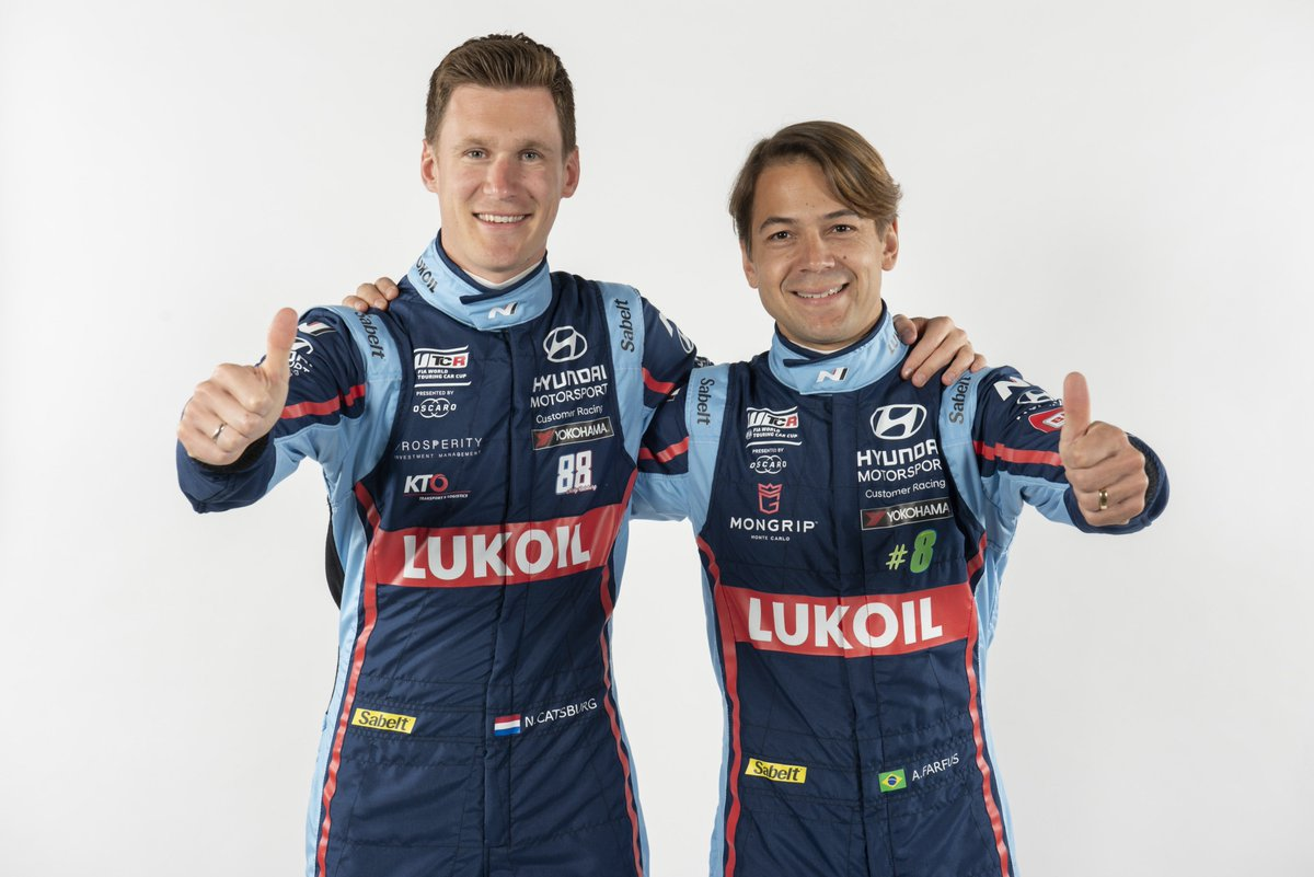 #WTCR @augustofarfus and @nickcatsburg will compete for the BRC Hyundai N Lukoil Racing Team in @FIA_WTCR 2019! #HMSGOfficial