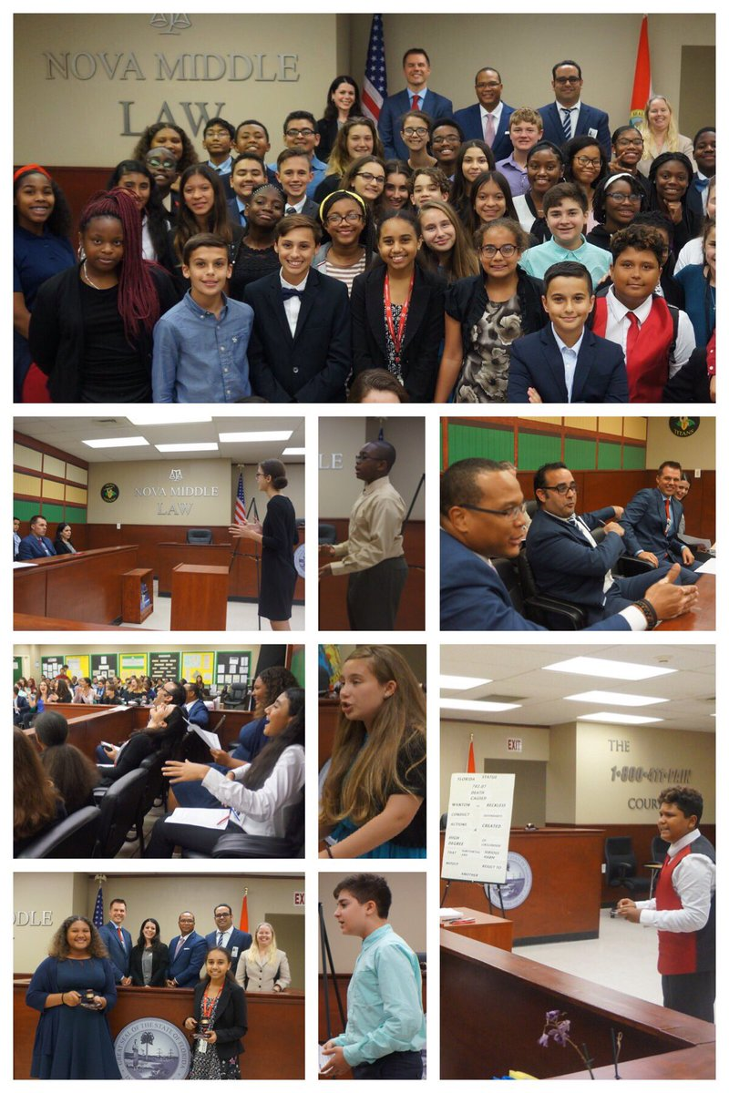 Held the 2nd annual #NovaMiddle School Opening Statement Competition this past Friday. 38 students competed for the top spot in their grade. 14 #attorneys volunteered their time as judges, giving valuable feedback. This was such a great learning experience for the kids. #law<br>http://pic.twitter.com/tWUHnxAqPG