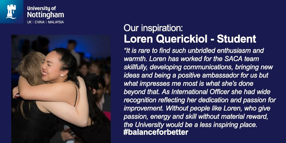 We are celebrating Loren Querickiol as one of our most inspirational #women this month #IWD2019  #Nottingham<br>http://pic.twitter.com/YWgdnjF8LB