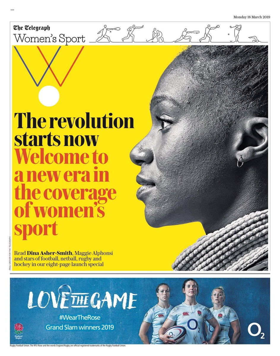 The revolution starts now.   It's a huge honour to be joining @Telegraph @WomensSport as their first ever Women's Sports Editor, alongside a star studded 🌟 ✨💫roster of voices. Can't wait to start working with you all!  Excited to rewrite the script 💥🎾🥊🏉🏏🏸🏋🏽♀️⛸🎽🥋🏂🤸🏾♀️🤺🏇