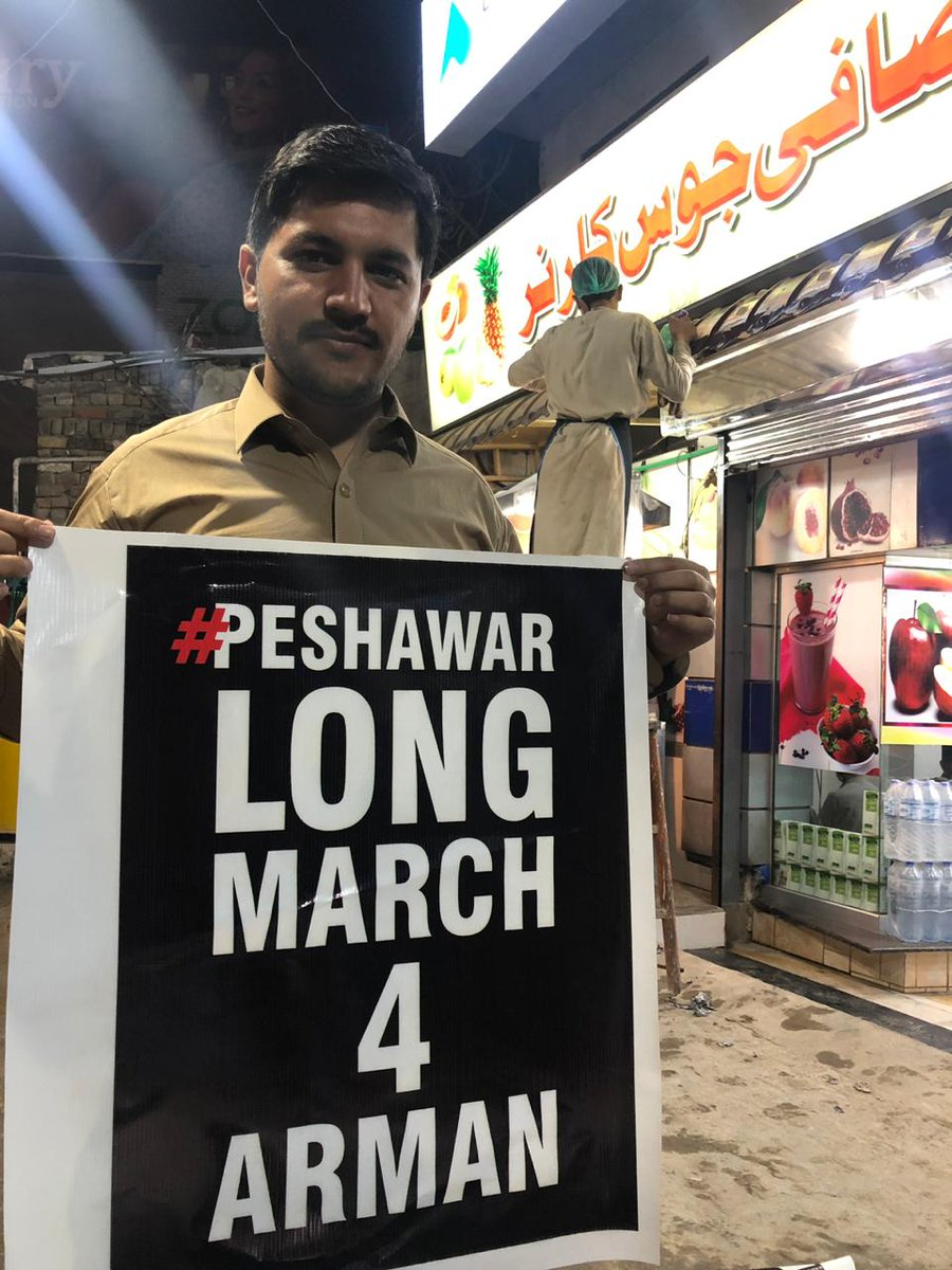 The pashtun long March for Arman luni, is going to give voice to thousands of others been left unheard. #PeshawarLongMarch4Arman<br>http://pic.twitter.com/phrMEnCqTB