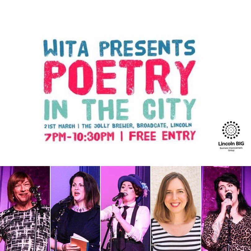 THREE DAYS &#39;til we launch our Poetry in the City project; a celebration of Lincoln's Cultural Community through the words of 5 fabulous local lady poets. Free entry, 7pm, join us!  Supported by Lincoln Creates; a collaboration between Lincoln BIG, Visit Lincoln, and LCAP  <br>http://pic.twitter.com/FHlXHmvn9h