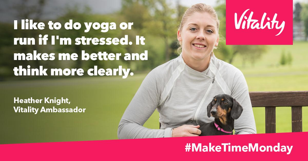 Need some Make Time Monday inspiration? Vitality Ambassador @Heatherknight55 shares her tips for how to relax and spend time with friends and family. Find more #MakeTimeMonday tips here: https://vtly.co.uk/2RMfKti