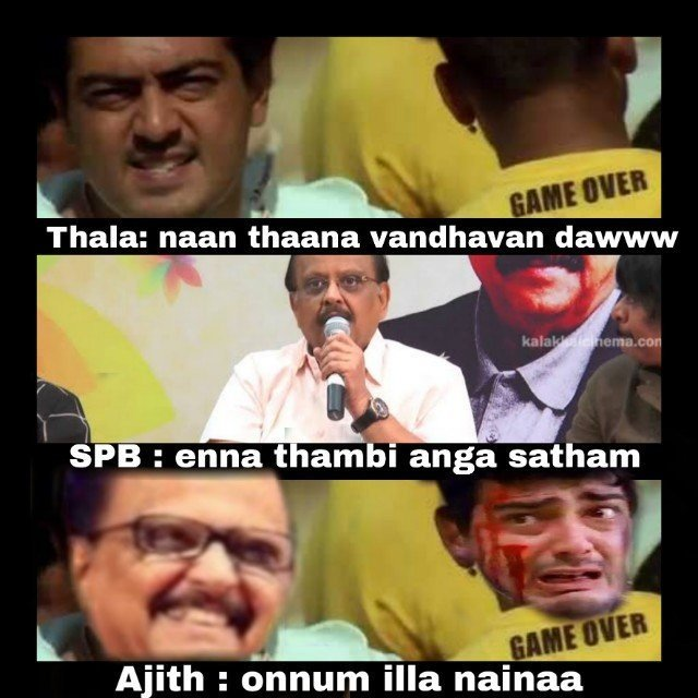 #SPB interview be like GAME OVER  @ajithkumar_actr<br>http://pic.twitter.com/4FF7JetbuQ