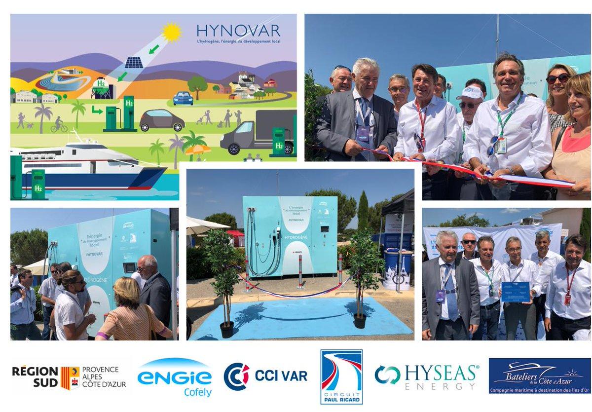 Coup d'accélérateur pour Hynovar, mobilité à hydrogène vert en @MaRegionSud   Initié par la @CCIduVar en 2016, le projet HYNOVAR s'applique aujourd'hui à mettre en œuvre les deux premières stations de distribution à hydrogène vert. https://www.risingsud.fr/coup-daccelerateur-pour-hynovar-mobilite-a-hydrogene-vert-en-region-sud/…