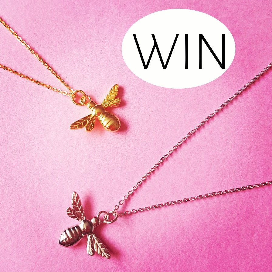 WIN a BEE pendant   RETWEET this post &amp; FOLLOW for a chance to WIN.  For an extra chance to WIN you can enter via Facebook &amp; Instagram  #win #giveaway #prizes #competition #compers #CompetitionTime #winning<br>http://pic.twitter.com/AUP24c5kJ6