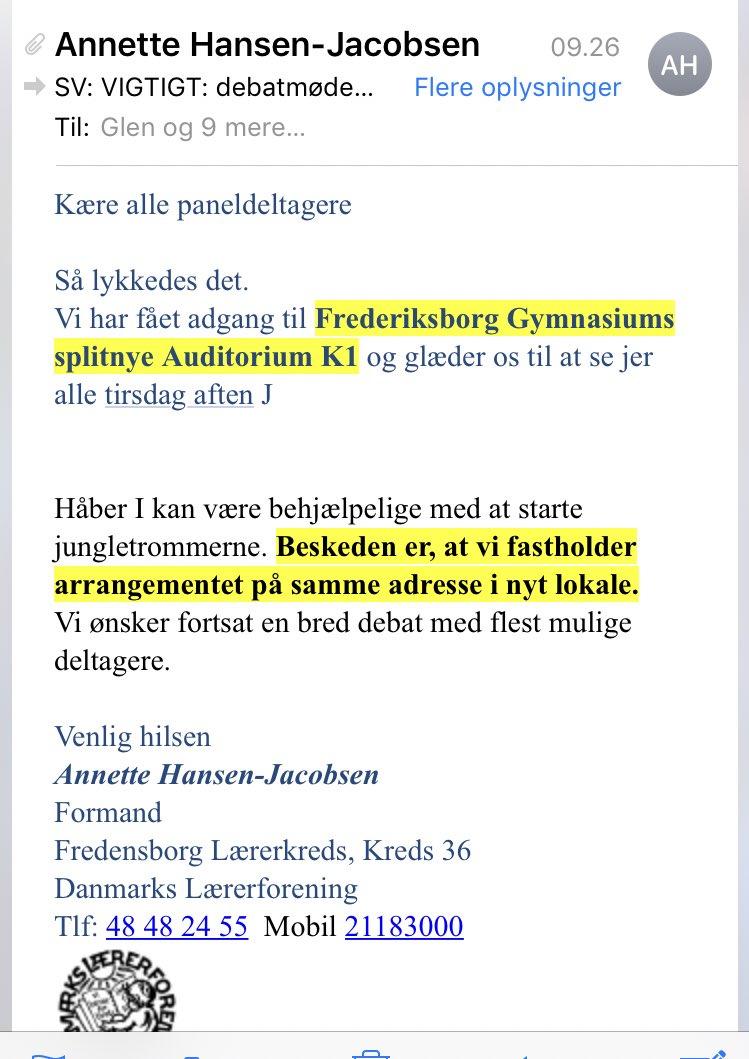 test Twitter Media - Stor tak til @dlforg i Nordsjælland der nu har flyttet en paneldebat til et handicaptilgængeligt lokale. Jeg glæder mig til at få mulighed for at deltage. #skolechat #dkpol https://t.co/KtDOjnEdy8