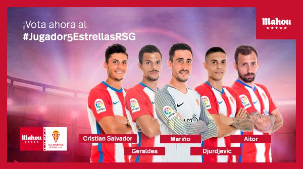Es hora de votar al mejor jugador de febrero del @RealSporting. Utiliza la etiqueta #Jugador5EstrellasRSG y escribe el nombre de tu candidato. ¡Tienes 24 horas!