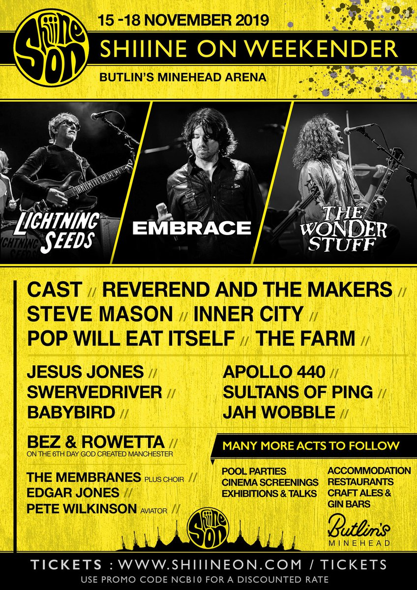 What a weekend you all seem to have had on the cruise!!! Great reading the comments & memories.  You can do it all again at the Shiiine  On Weekender 2019 😎 The First wave of band announcements 👇 Packages >> http://www.shiiineon.com/tickets