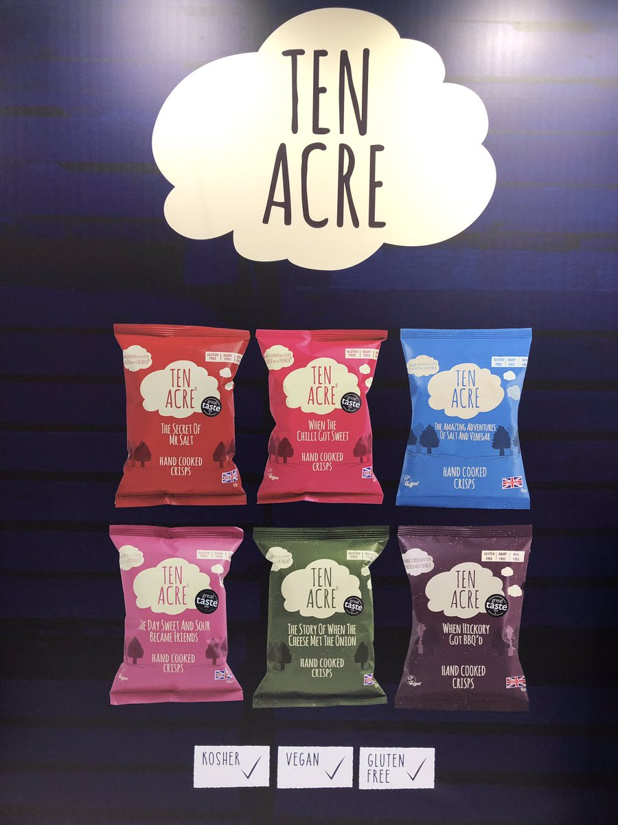 If you are @ife_event @excellondon today pop along to our stand N3202 and meet our sales team. #ife19 #excellondon #handcookedcrisps #glutenfree #kosher #vegan #delicious