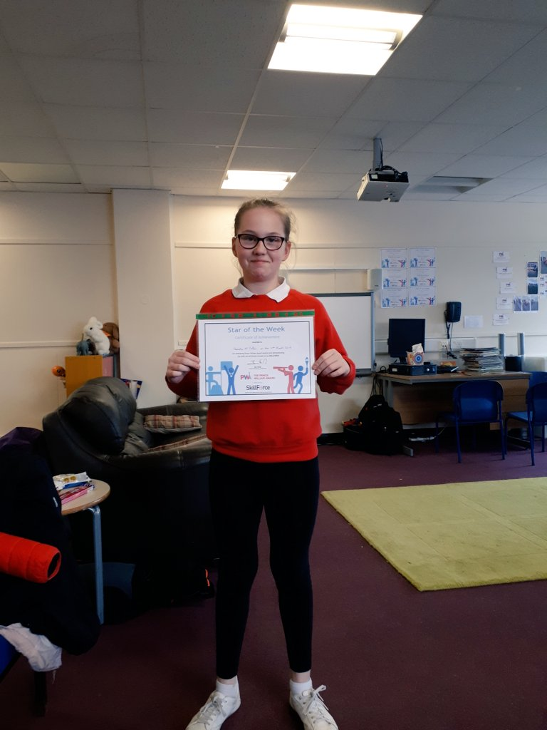 Greatly deserved PWA Star of the Week. This girl is demonstrating confidence, resilience and leadership every week! @ThePWAward #Bowhouse