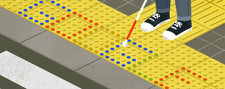 Today&#39;s #GoogleDoodle pays tribute to Seiichi Miyake, the Japanese inventor of tactile paving! He came up with the idea in 1965 as he sought to help a visually impaired friend navigate his way around busy public areas.  https:// rnib.in/2TOPRu4  &nbsp;  <br>http://pic.twitter.com/rr41h1ONnw