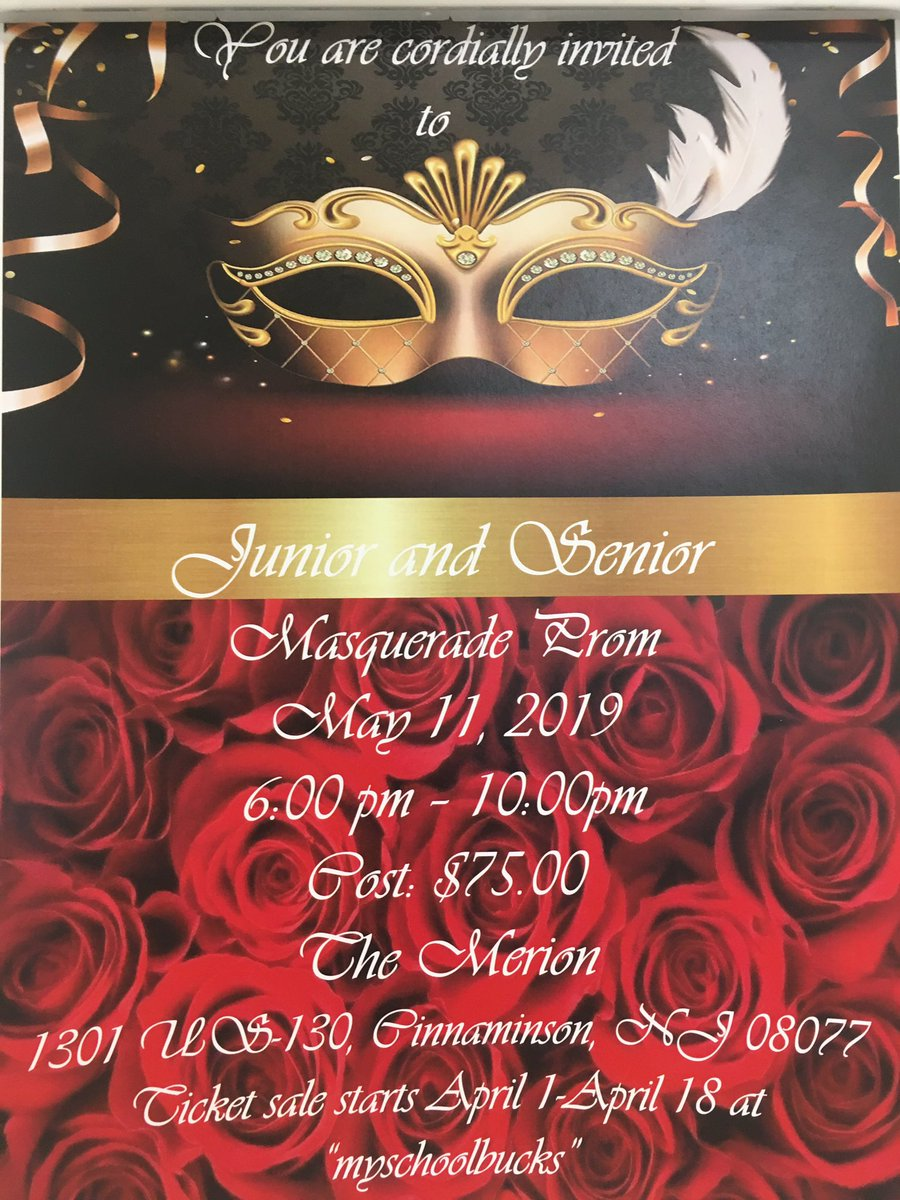 Prom tickets on sale.