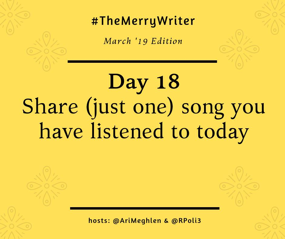 #TheMerryWriter D18: Lost In The Fire by Gesaffelstein feat. The Weeknd. This song is such a mood right now. I&#39;ve had it on repeat for days!! @AriMeghlen @RPoli3 #WritingGames #WritingCommunity<br>http://pic.twitter.com/ZqZoh9GOaR